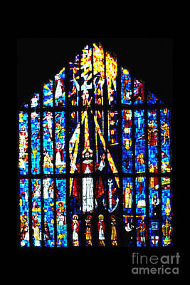Stained Glass Panels Photograph - Stained Glass Cathedral Church Of St Andrew by Thomas R Fletcher