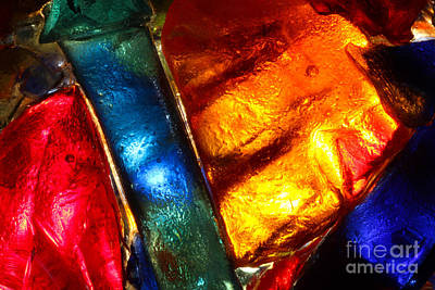 Stained Glass Closeup Print by Kerstin Ivarsson