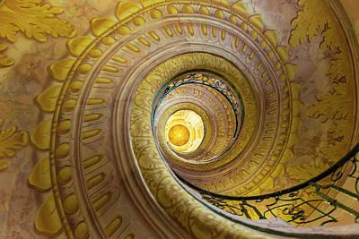 Adam Photograph - Stairway In The Abbey, Melk Abbey by Peter Adams