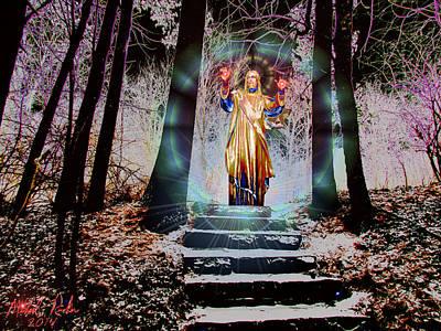 Religious Artist Digital Art - Stairway To Heaven by Michael Rucker