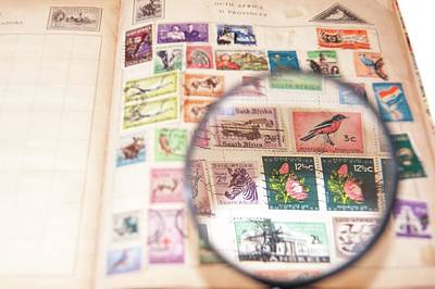 Stamp Collecting Hobby Art Print