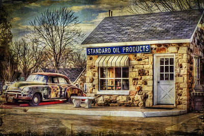 Photograph - Standard Oil Route 66 by Lisa and Norman  Hall