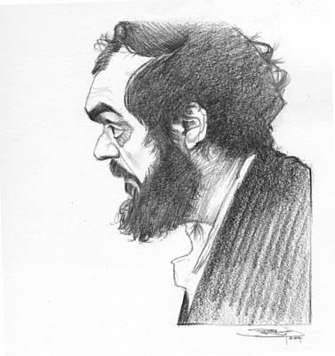 Film Maker Drawing - Stanley Kubrick by Sri Priyatham