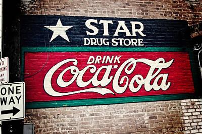 Star Drug Store Wall Sign Art Print by Scott Pellegrin