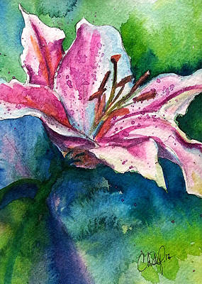 Painting - Star Gazer Lilly by Christy  Freeman