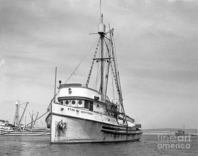 Photograph - Star Of Monterey In Monterey Harbor Circa 1948 by California Views Mr Pat Hathaway Archives