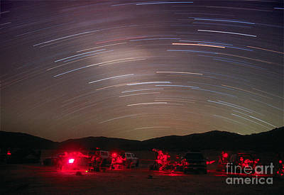 Startrails Photograph - Star Trails by Chris Cook