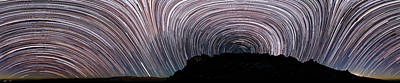 La Galaxy Photograph - Star Trails Over La Silla Observatory by Babak Tafreshi