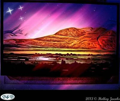 Digital Art - Starry Night Desert by Holley Jacobs