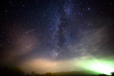 Stars Over Appalachian Mountains Art Print
