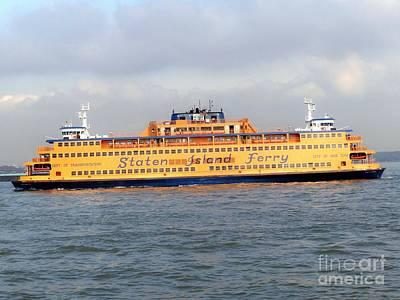 Photograph - Staten Island Ferry by Ed Weidman