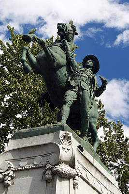 Que Photograph - Statue Commemorating The Canadian Mounted Rifles by Jason O Watson
