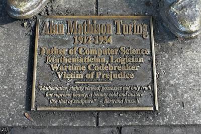 Statue Of Alan Turing Art Print