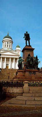 Helsinki Photograph - Statue Of Alexander II In Front by Panoramic Images