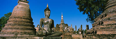 Sukhothai Photograph - Statue Of Buddha In A Temple, Wat by Panoramic Images
