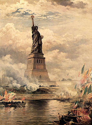 Statue Of Liberty Enlightening The World Print by MotionAge Designs