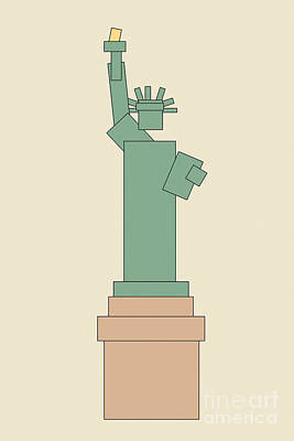 Suprematism Digital Art - Statue Of Liberty by Igor Kislev