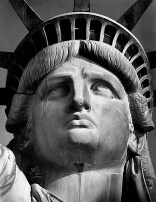 Statue Portrait Photograph - Statue Of Liberty by Retro Images Archive