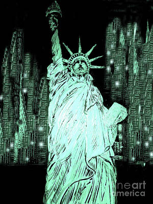 Statue Of Liberty Mixed Media - Statue Of Liberty by Yelena Wilson