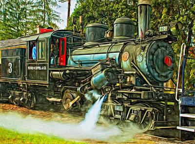 Steam Climax - Paint Art Print by Steve Harrington