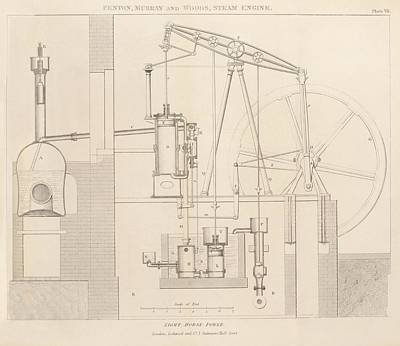 Steam Engine Design Art Print