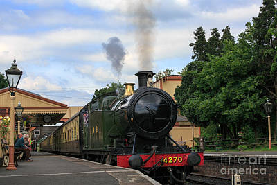 Steam Locomotive 4270 Arrives At Toddington Station Art Print by Louise Heusinkveld