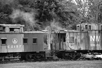 Caboose Photograph - Steam Train by Dan Sproul
