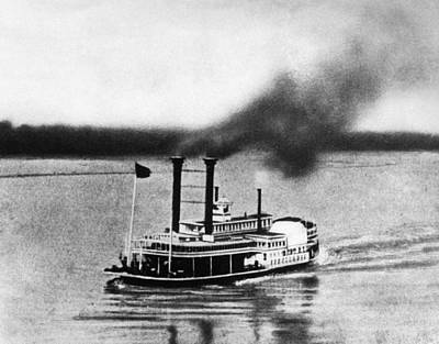 Photograph - Steamboat Race, 1870 by Granger