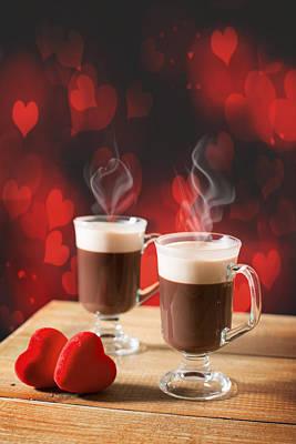Steaming Hot Chocolates Art Print by Amanda Elwell