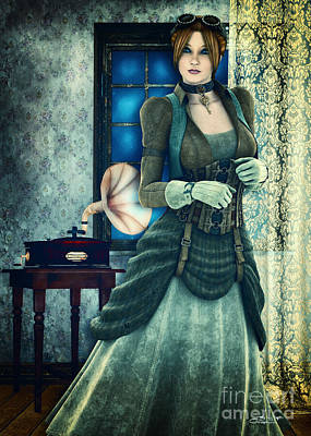 Digital Art - Steampunk Fashion by Jutta Maria Pusl