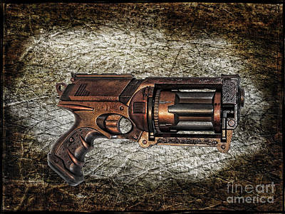 Steampunk - Gun - The Multiblaster Art Print by Paul Ward
