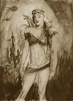 Steampunk Monroe Art Print