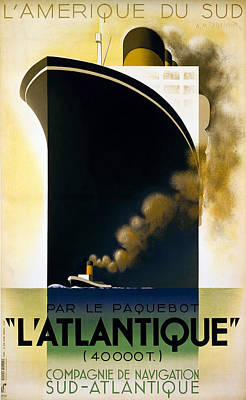 Photograph - Steamship Travel Poster by Granger