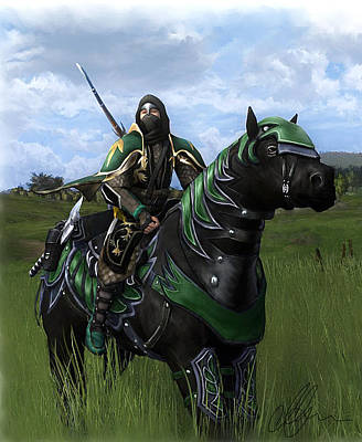 Painting - Steed Of The Citadel by Michael Greenaway