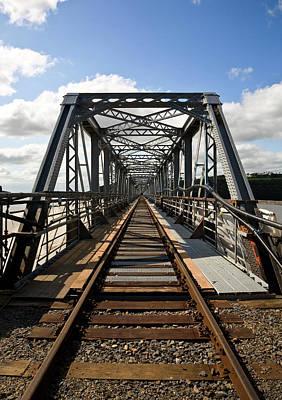 Steel Railway Bridge Over The River Art Print