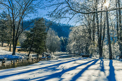 Photograph - Steele Creek Winter by Jonathan Grim