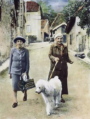Stein Photograph - Stein And Toklas, 1944 by Granger