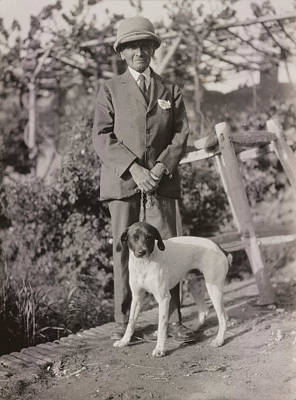 Stein With His Dog Art Print by British Library
