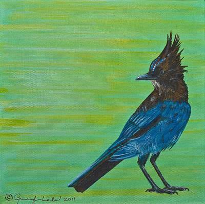 Painting - Stellar Jay by Jennifer Lake