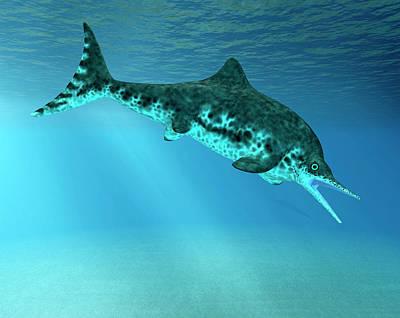 Paleozoology Photograph - Stenopterygius Prehistoric Marine Reptile by Friedrich Saurer