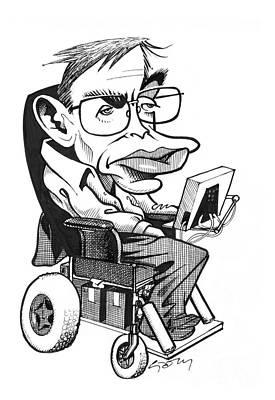 Stephen Hawking Photograph - Stephen Hawking, British Physicist by Gary Brown