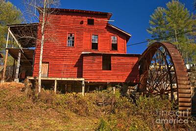 Old Mills Photograph - Stepp's Grist Mill by Adam Jewell