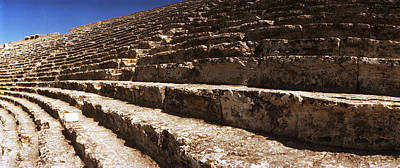 Ancient Civilization Photograph - Steps Of The Theatre In The Ruins by Panoramic Images