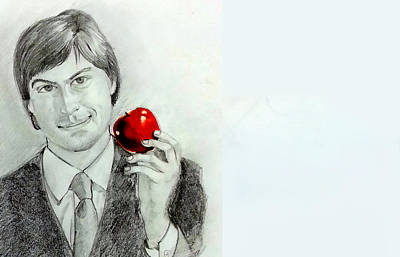 Painting - Steve Jobs by Mayur Sharma