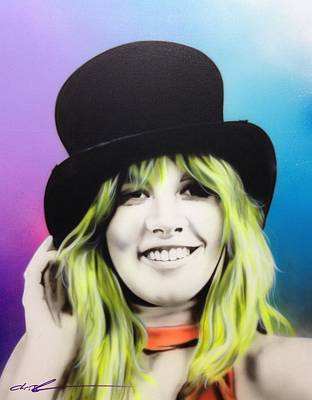 Stevie Nicks - ' Stevie ' Print by Christian Chapman Art