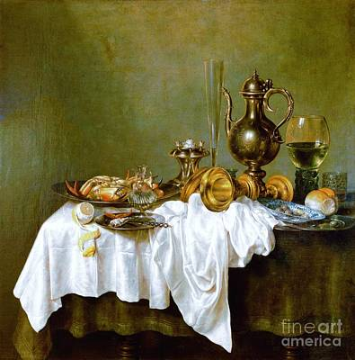 Still-life With Nautilus Cup Art Print by Reproduction