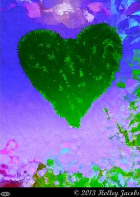Digital Art - Still My Baby Green by Holley Jacobs