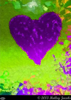 Digital Art - Still My Baby Purple by Holley Jacobs