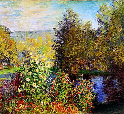 Montgeron Painting - Stiller Winkel Im Garten Von Montgeron by Celestial Images