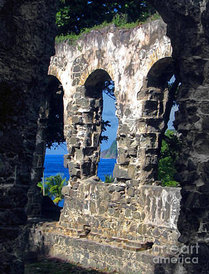 Photograph - Stlucia - Ruins by Gregory Dyer